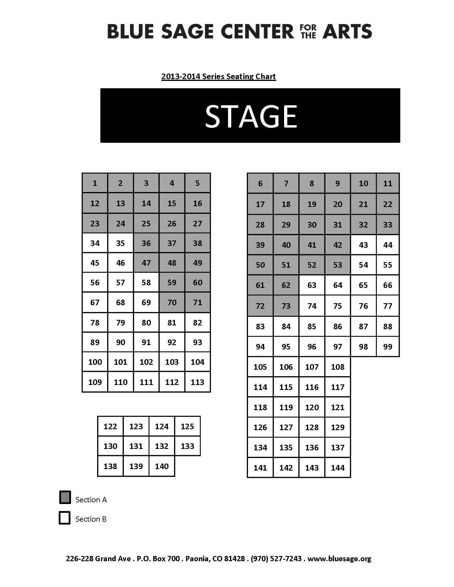 Series Seating Chart